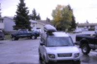Pinhole camera shot of the cars in front of my house